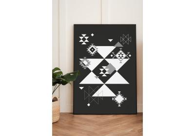 Ethnic downloadable print, Geometric print, Tribal art, Ethnic wall art, Printable art, Color Black