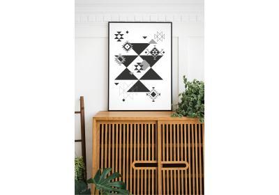 Ethnic downloadable print, Geometric print, Tribal art, Ethnic wall art, Printable art, Color White