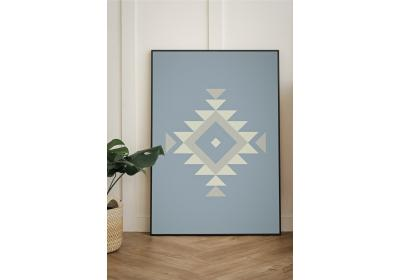 Ethnic downloadable print, Geometric print, Tribal art, Ethnic wall art, Printable art, Color Ice Blue
