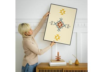 Ethnic downloadable print, Geometric print, Tribal art, Ethnic wall art, Printable art, Color Mellow Yellow