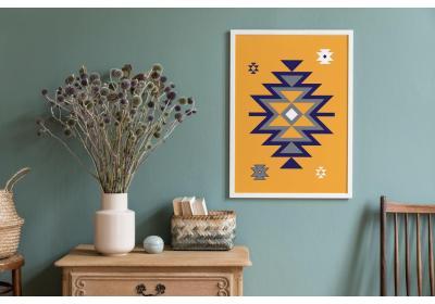 Ethnic downloadable print, Geometric print, Tribal art, Ethnic wall art, Printable art, Color Butterscotch Yellow
